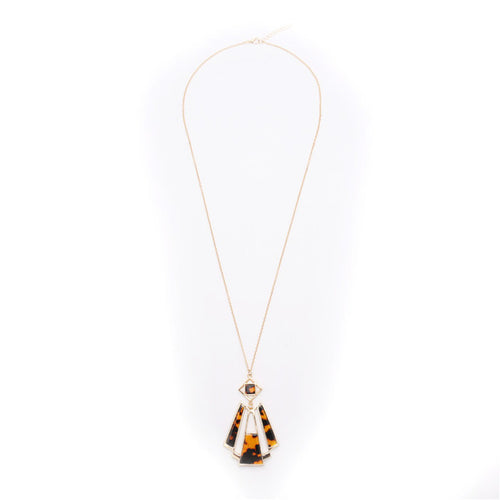 Retro exaggerated tiger skin pattern necklace - Shop at GlamoRight.Com