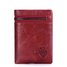 Genuine Leather Wallet Men Zipper Design - Shop at GlamoRight.Com