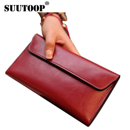 Ladies PU Leather Wallet Female Zipper Bag