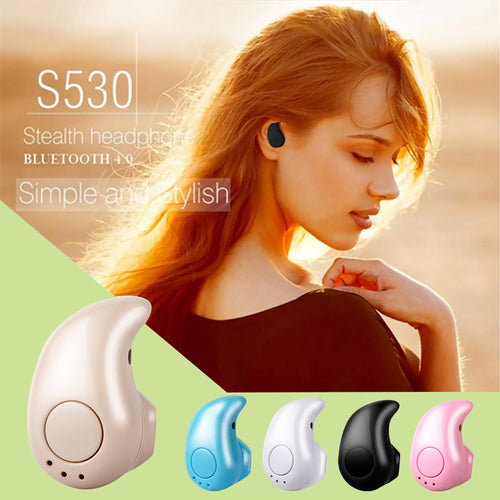 S530 Mini Wireless Bluetooth Earphone Stereo Headset with Microphone for iPhone Samsung