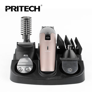 PRITECH 6 In1 Hair Cutting Machine Hair Clipper / Trimmer / The Beard Trimmer Machine for Trimming - Shop at GlamoRight.Com