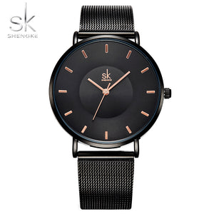 Fashion Black Elegant Dress High Quality Ultra thin Quartz Watch