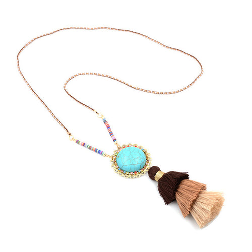 Colorful Bohemian Tassel Statement Necklace - Shop at GlamoRight.Com