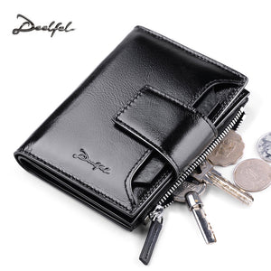 Deelfel Genuine  Leather Men Wallet