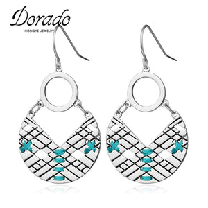 Colorful Enamel Drop Earring - Shop at GlamoRight.Com