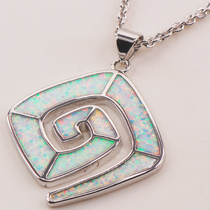 White Fire Opal 925 Sterling Silver Fashion Jewelry Pendant - Shop at GlamoRight.Com
