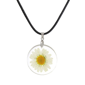 Handmade Boho Transparent  Daisy Necklace - Shop at GlamoRight.Com