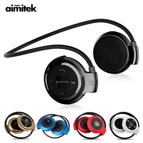 Mini Sport Wireless Bluetooth Headphones Micro SD Card Slot FM Radio Mic
