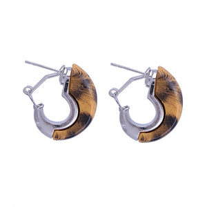 Tiger Resin Stone With Zinc Alloy Stud Earring - Shop at GlamoRight.Com