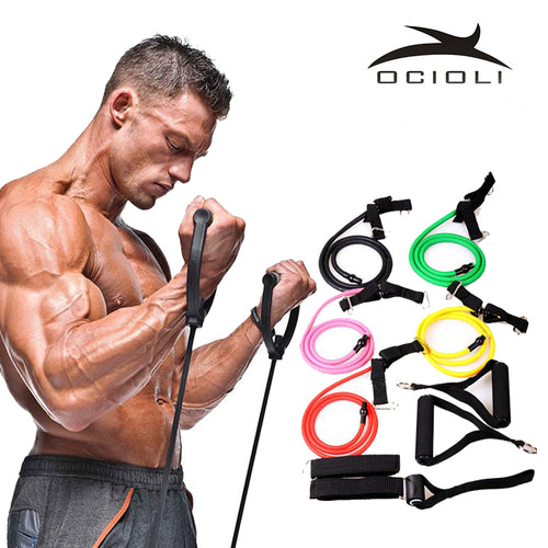 Fitness Resistance Bands to Lose weight gain muscle - Shop at GlamoRight.Com