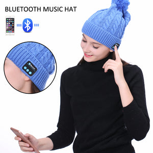 Sports Smart Cap With Bluetooth Headset wireless ( Warm Winter Knitted )
