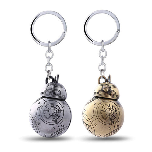Star Wars Keychain Robot BB-8 BB8 Key Metal Chain Ring Holder - Shop at GlamoRight.Com