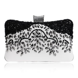 Crystal Diamond Beaded Rhinestone Retro Beaded Clutch Bags - Shop at GlamoRight.Com