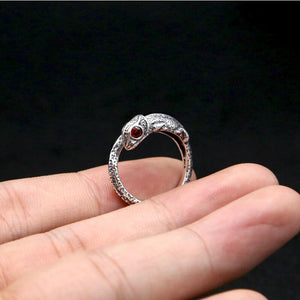 Creative Cute Little Chameleon Lizard Tail Ring - Shop at GlamoRight.Com