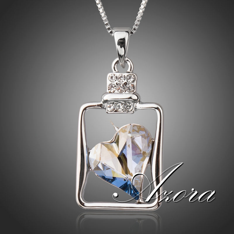 Romantic Big Blue Heart Crystal Pendant Necklaces - Shop at GlamoRight.Com