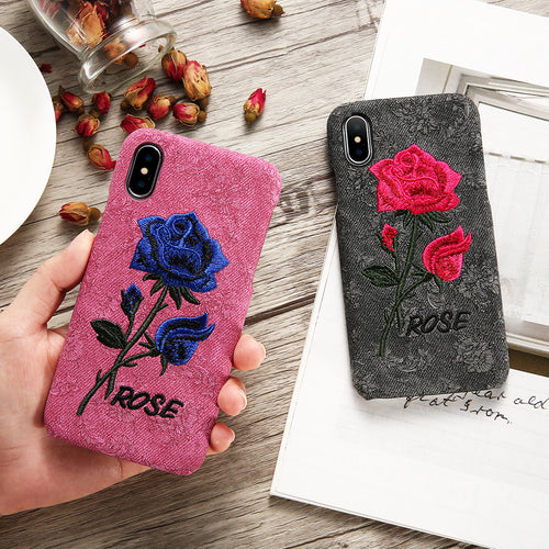 Thin Rose Women Phone Cases For iPhone / Samsung