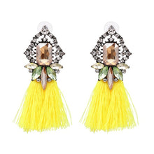 Tassel Statement Fringe Earrings Multicolored