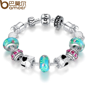 Silver Charm Bracelet Bangle - Shop at GlamoRight.Com
