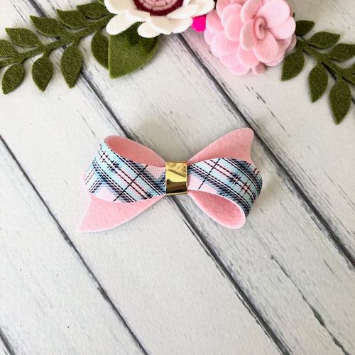 Christmas Bow - Tartan and Pink (Layla)