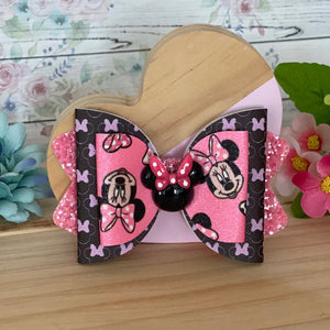 Chloe Big Bow - Minnie in Pink