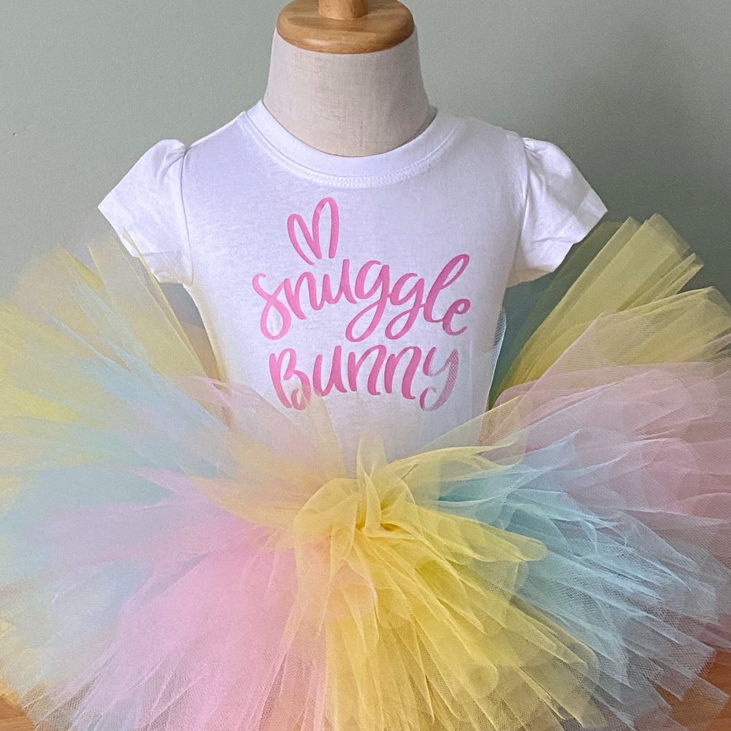 Deluxe Tutu - Blue, Pink and Yellow