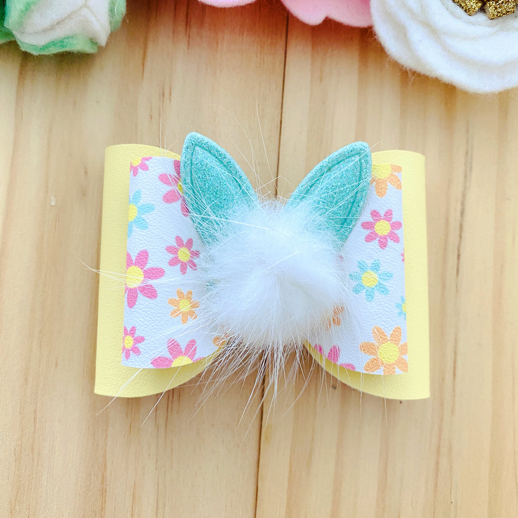 Skyla Bow - Easter Cotton Tail