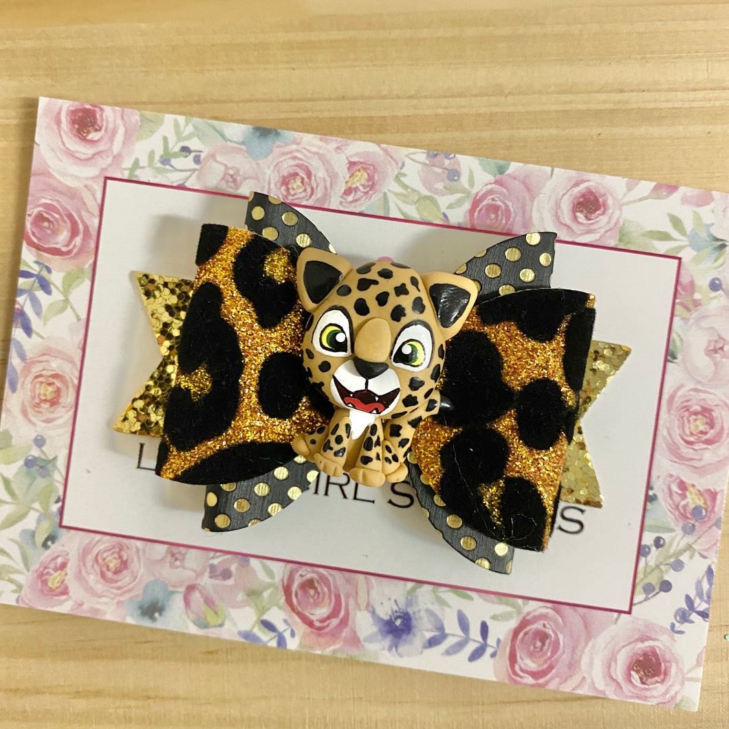 Maria Small Bow - Leopard