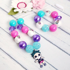 Bubblegum Necklace and Bracelet Set - LOL Cosmic Queen
