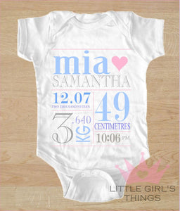 Birth Announcement - Blue and Grey
