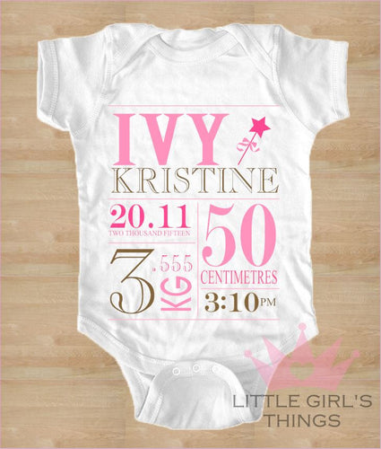 Birth Announcement - Pink
