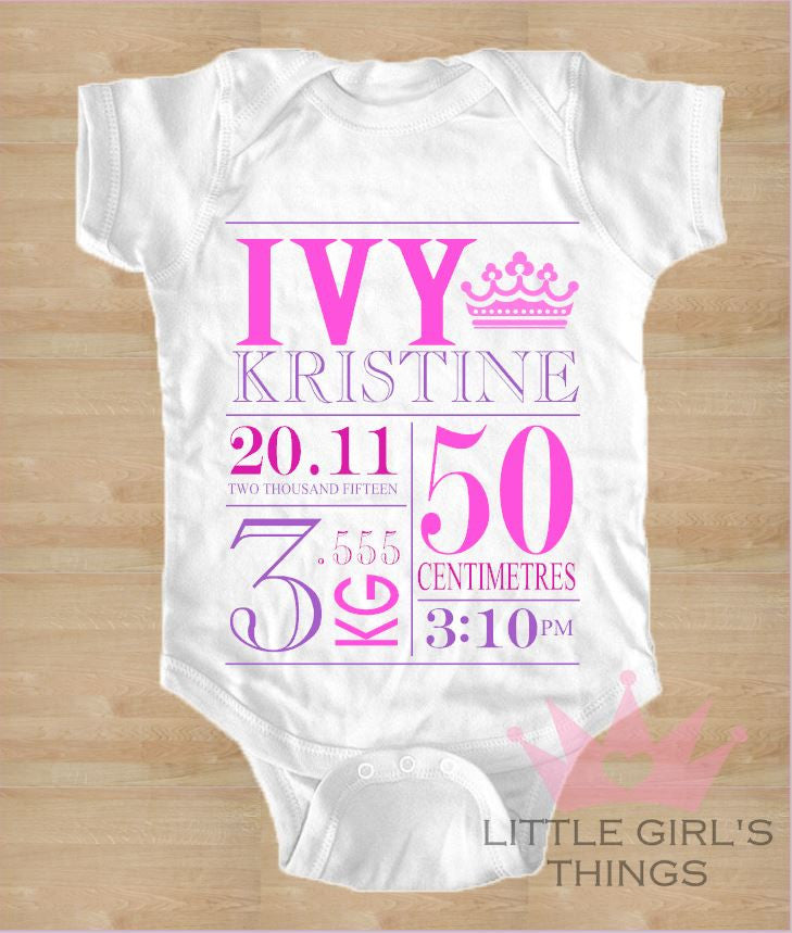 Birth Announcement - Pink and Purple