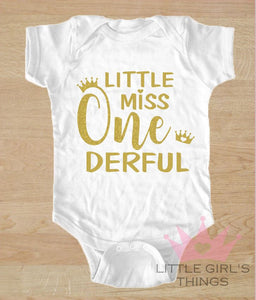 1st Birthday Onesie -  Little Miss One
