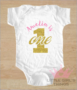 1st Birthday Onesie - Personalized