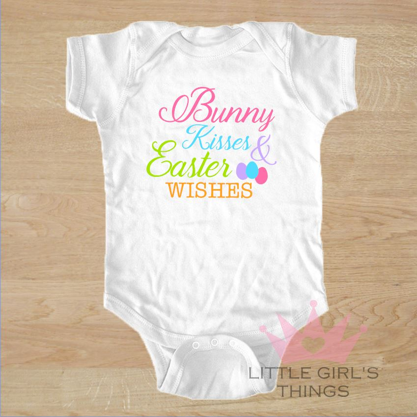 Easter Onesie - Bunny Kisses and Easter Wishes