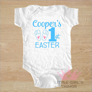 Easter Onesie - My First Personalized Blue