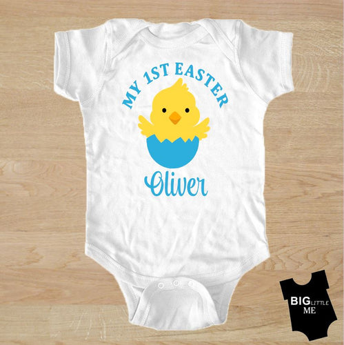 Easter Onesie - My First Personalized Chick in Egg