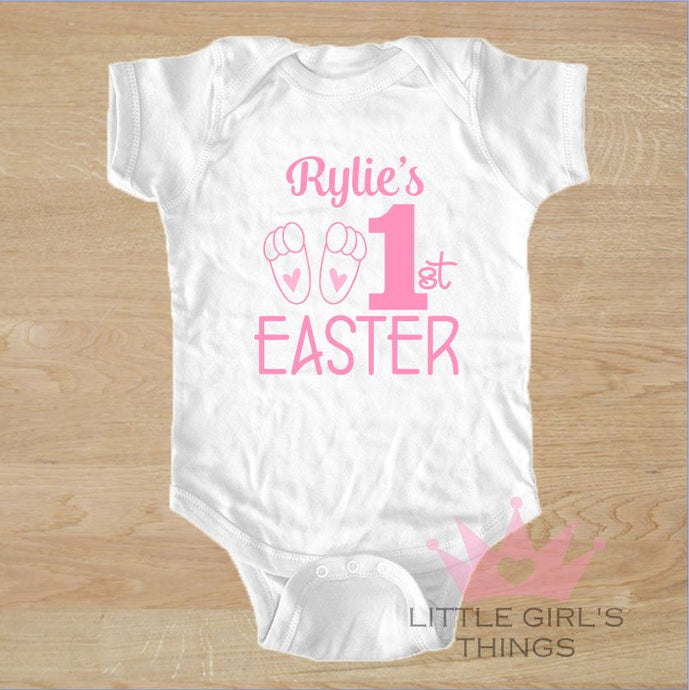 Easter Onesie - My First Personalized Pink