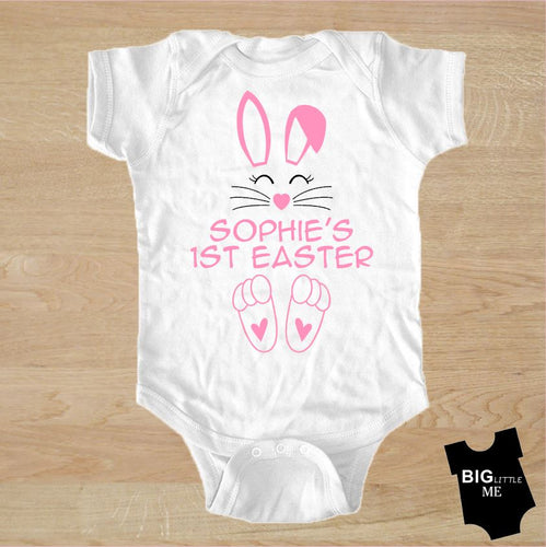 Easter Onesie - My First Personalized Bunny Pink