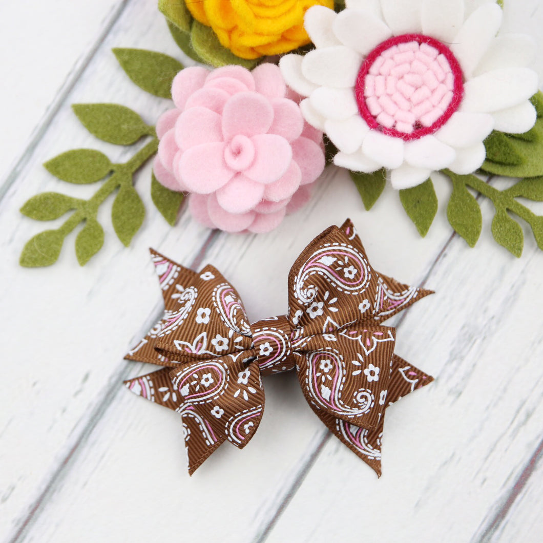 Paisley Bow - Chocolate