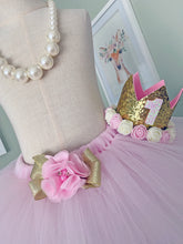 Cake Smash Outfit - First Birthday Pale Pink Tutu Bundle