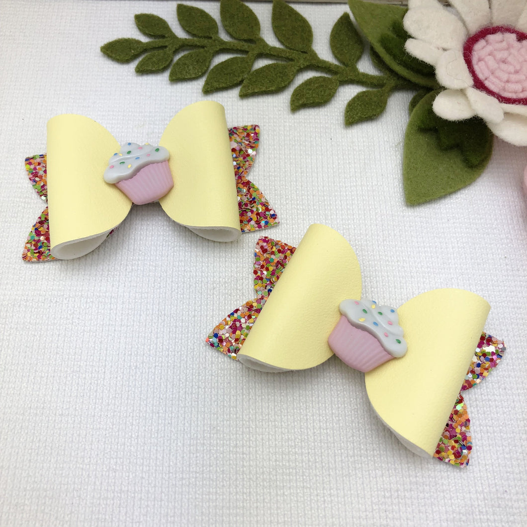 Emily Bow - Patty Cake Yellow Piggy Tail Clips
