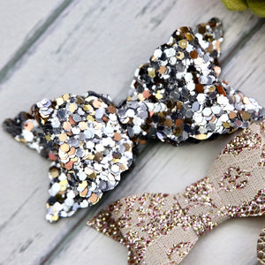 Ella, Taylor and Olivia Bow Set - Gold