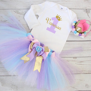 1st Birthday - Mermaid Tutu and Top