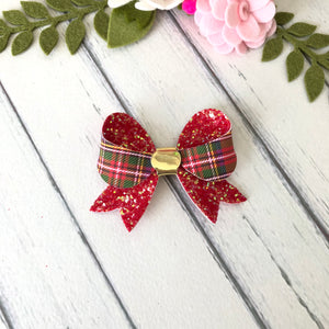 Christmas Bow - Tartan and Glitter (Kaitlin)