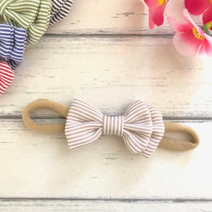 Amiee Bow - Stripes (8 Colours)