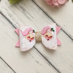 Christmas Bow - Santa in Pink (Emily)
