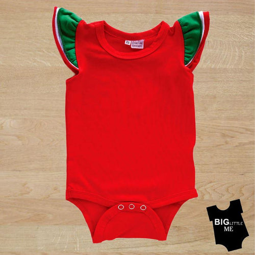 Christmas Flutter Onesie - Red