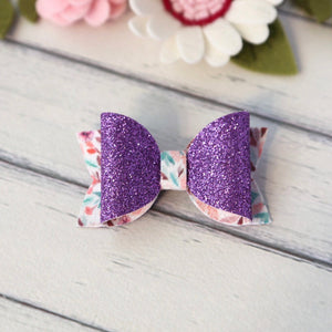 Lucy Bow - Purple Glitter Floral