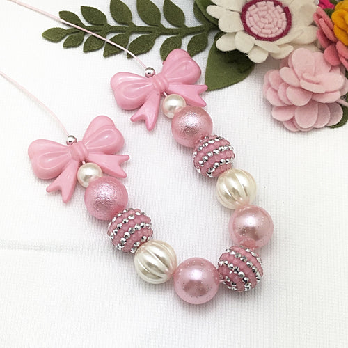 Bubblegum Necklace - Pink Bows