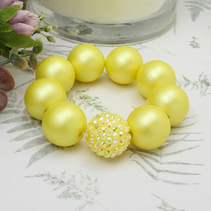 Bubblegum Bracelet - Sunshine Yellow